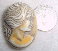 #319t - 40x30mm Molded Cameo, Tan