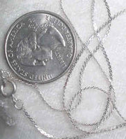 "#325 - 18"" - 1mm Silver Plate Chain"