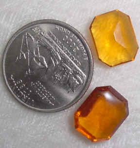 #345topaz - Glass Stone 12x11mm, 4 Pieces