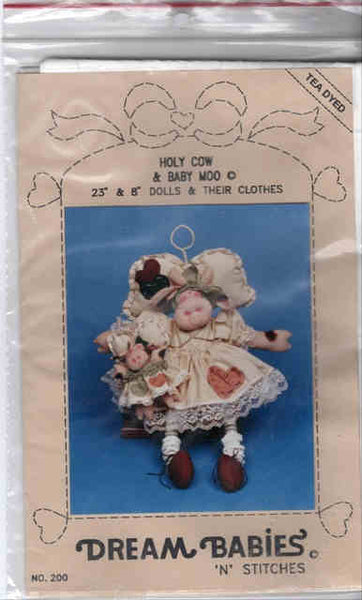 Holy Cow & Baby Moo Cow Doll Pattern