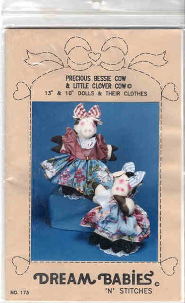 Precious Bessy Cow & Little Clover Cow Pattern