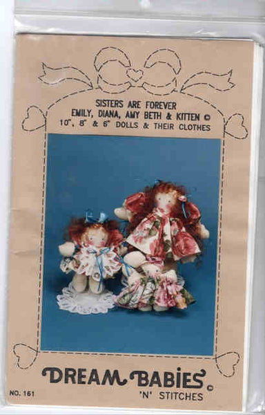 Sisters Are Forever Doll Pattern