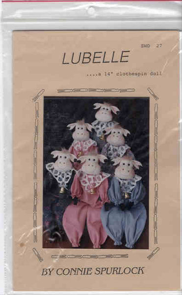 Lubelle Clothespin Cow Doll Pattern