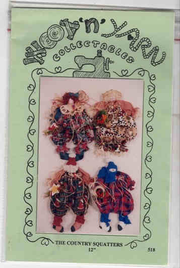 Country Squatters Doll Pattern