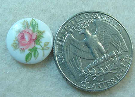 #330 - Porcelain Rose Stone, 2 Pieces
