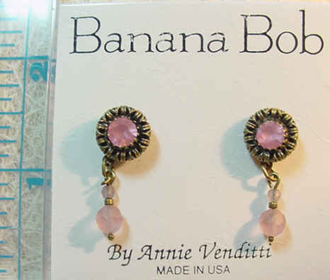 Pink & Lilac Pierced Earrings