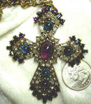 Duchess Of Burgundy Cross Necklace - Amethyst