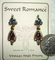 Navarre Oval Earrings - Amethyst