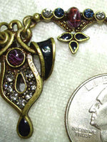 Navarre Ribbon Necklace - Amethyst