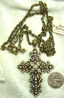 Pearl Lace Cross Necklace