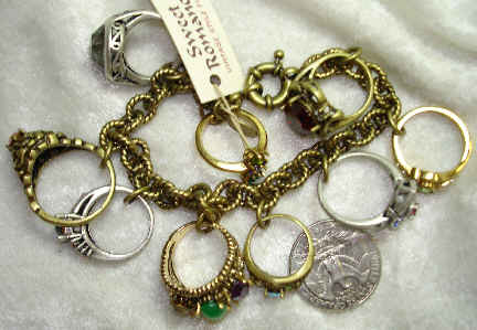 Antique Rings Charm Bracelet