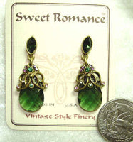 Briolette Earrings - Moss