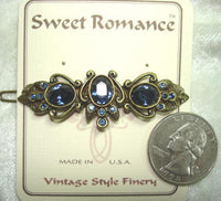 Blue Crystal Barrette