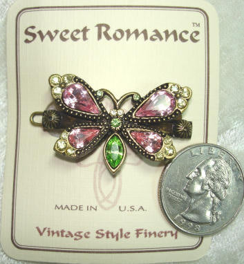 Rose Butterfly Barrette