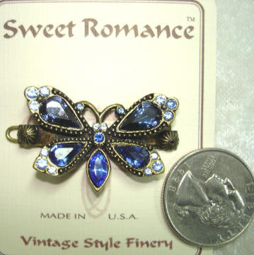 Blue Butterfly Barrette