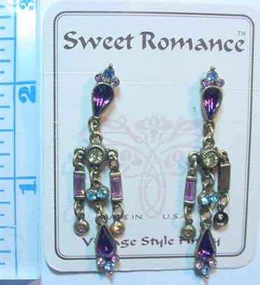 Neo-Renaissance Earrings -Amethyst