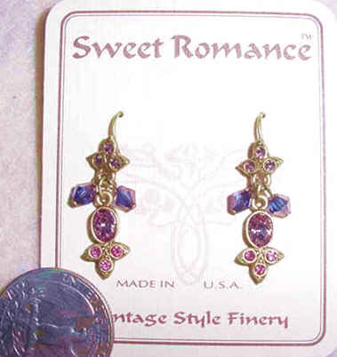 Empress of India Earrings Lavendar