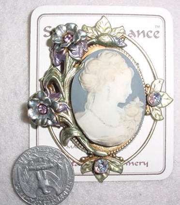 Princess Rose Cameo Pin
