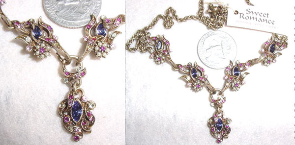 Tapestry Navette Cluster Necklace - Tanzanite