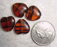 #88 - 14mm Vintage Czech Glass Heart Bead