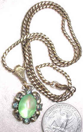 Fanciful Frost Necklace - Green