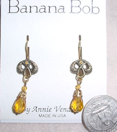 Rosary Earrings - Topaz