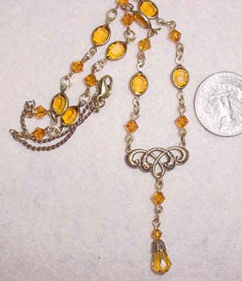 Rosary Necklace  - Topaz
