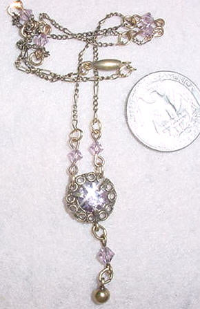 Dainty Bib Light Amethyst Necklace