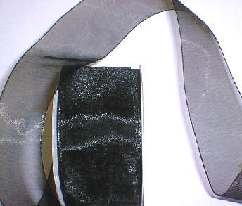"Black Organza 1-1/2"" Ribbon 25 yds"