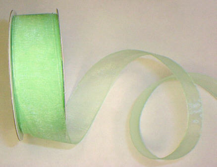 "Mint Organza 7/8"" Ribbon 25 yds"