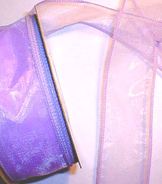 "Orchid Organza Wired Ribbon 1-3/8"" - 25 yds"