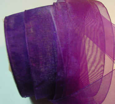 "Plum Organza 1-1/2"" Ribbon 25 yds"