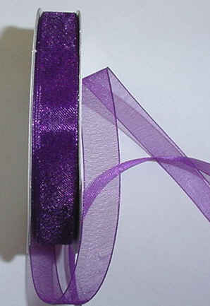 "Plum Organza 3/8"" Ribbon 25 yds"