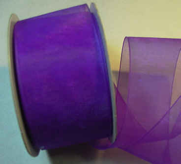"Purple Organza 1-1/2"" Ribbon 25 yds"