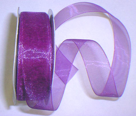 "Purple Organza 7/8"" Ribbon 25 yds"