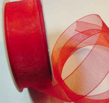 "Red Organza 7/8"" Ribbon 25 yds"