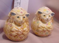 Easter Cats Salt and Pepper Shakers - SPEA