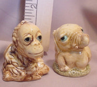 Elephant & Orangutan Salt and Pepper Shakers - SPEO