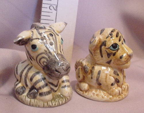 Tiger & Zebra Salt and Pepper Shakers - SPTZ