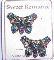 Victorian butterflies Pins Multi Color