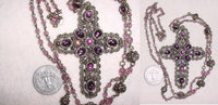 Bohemian Cross - Amethyst Necklace