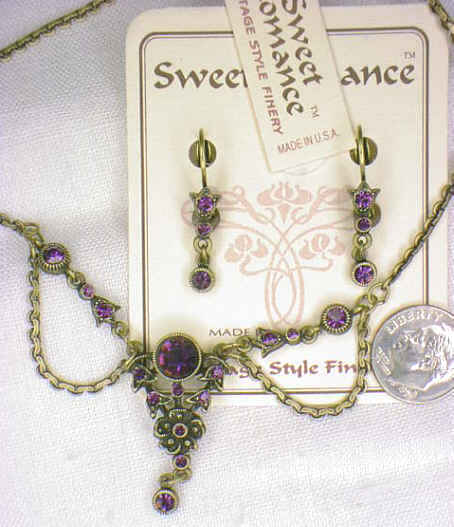 Rivoli Necklace and Earring Set- Amethyst