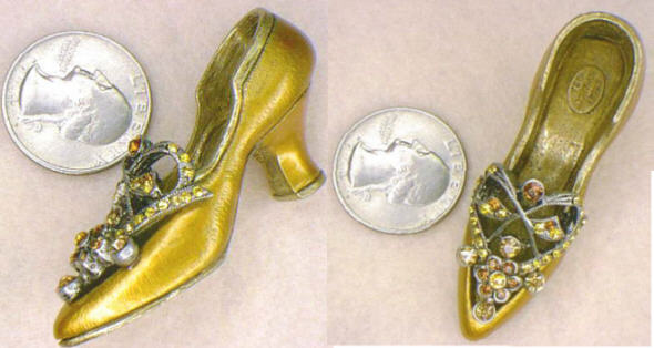 Golden Deco Miniature Shoe