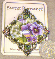 Porcelain Pansy Pin