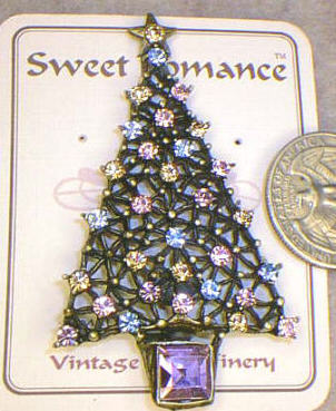 Christmas Tree Pin - Pastels