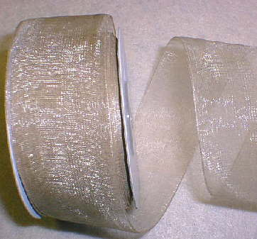 "Toffee Organza 1-1/2"" Ribbon 25 yds"