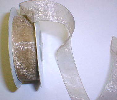 "Toffee Organza 7/8"" Ribbon 25 yds"