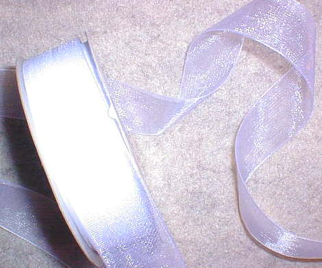 "White Organza 7/8"" Ribbon 25 yds"