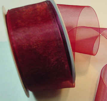 "Wine Organza 1-1/2"" Ribbon 25 yds"