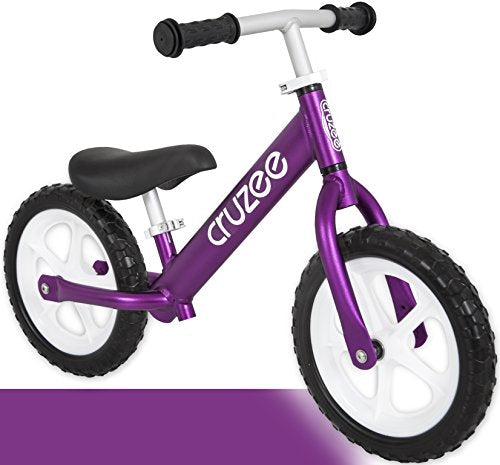 Cruzee Ultralite Balance Bike 4 4 Lbs Ages 1 5 To 5 Years Purple Best Sport Push Bicycle 2 3 4 Year Old Boys Girls Toddlers Kids Skip